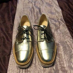 Gold Nine West shoes